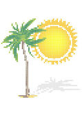 Dot Style Illustration of Palm — Stock Vector