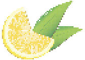 Dot Style Illustration of Lemon — Stock Vector
