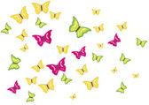 Butterflies swarm — Stock Vector
