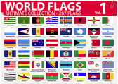 World Flags - Ultimate Collection - 287 flags - Volume 1 — Stock Vector