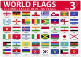 Banderas mundo 287 banderas - ultimate collection - - volumen 3 — Vector de stock