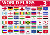 World Flags - Ultimate Collection - 287 flags - Volume 3 — Vector de stock