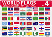 World Flags - Ultimate Collection - 287 flags - Volume 4 — Stock Vector