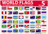 World Flags - Ultimate Collection - 287 flags - Volume 5 — Stock Vector