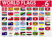 World Flags - Ultimate Collection - 287 flags - Volume 6 — Stock Vector