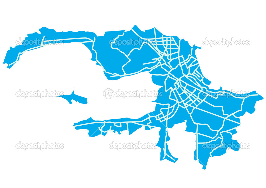 Санкт-Петербург карта — Вектор