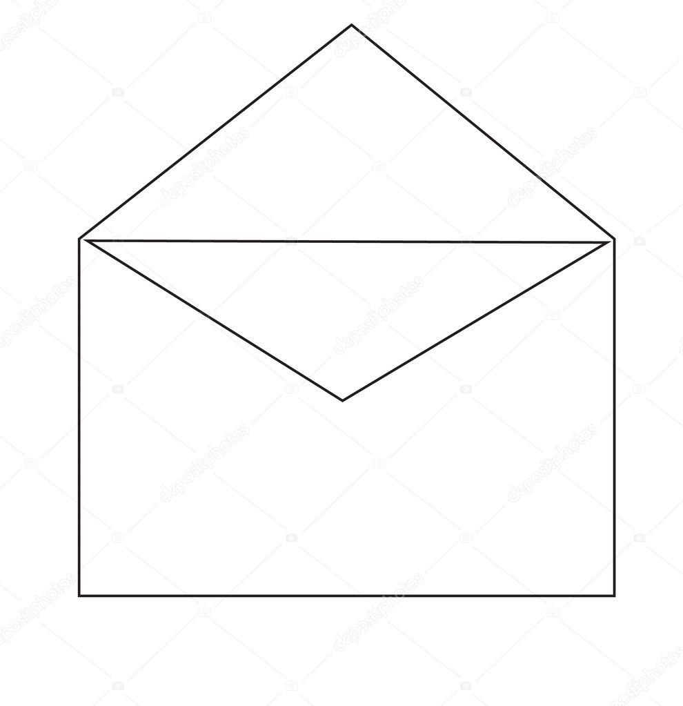 Open envelope — Stock Vector © megastocker #10549153