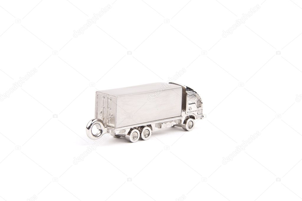 Toy truck - isolated on white background — Stock Photo #10572093