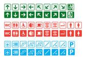 Navigation signs set — Stock Vector