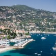 French Riviera lagoon with luxury yachts — Stock Photo