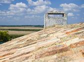 Evi kiremit çatı — Stok fotoğraf
