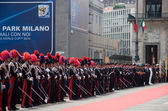Parade of carabiners in Milan, June 2010 — Stock Photo
