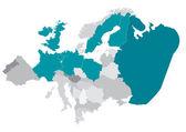 Vector Map of Europe — Stock Vector