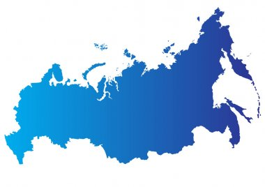 Vector map of Russia
