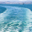 Ship trace on the water — Stock Photo