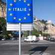 Stock Photo: Border between Italy and France