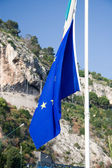 Flag of Europe on the flagstaff — Stock Photo