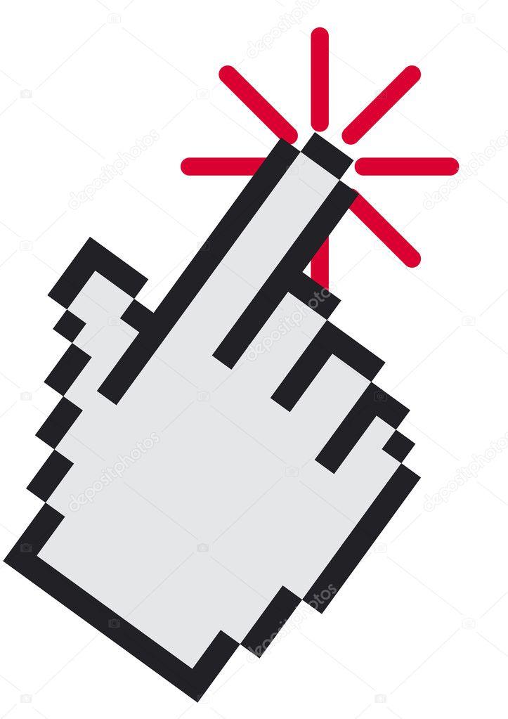 手形光标— 矢量图片作者 megastocker