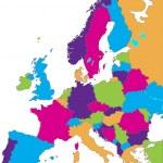 Mapa Evropa — Stock vektor