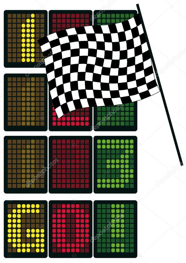 formel 1 tabelle stockvektor megastocker 9850868. Black Bedroom Furniture Sets. Home Design Ideas