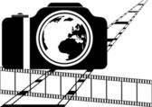 Film and camera — Stock Vector