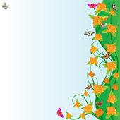 Růže a motýli — Stock vektor