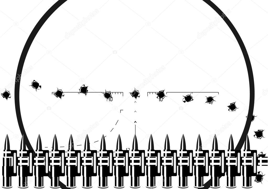 Machine Gun Bullet Belt Machine Gun Belt And Bullet