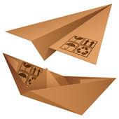 Shipping symbols. — Stock Vector