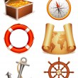 Marine icons. - Stock Vector