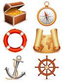 ícones marinhos. — Vetorial Stock