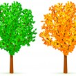 Royalty-Free Stock Vector Image: Two trees.