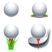 Golf icons. — Stock Vector