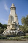 Cervantes Monument in Madrid — Stock Photo