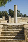 Ancient stairs and column, Cyprus — Stock Photo