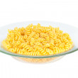 Macaroni in transparent plate — Stock Photo #10030714