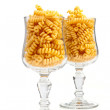 Macaroni in a glass - Stockfoto