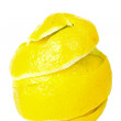 Rind of single lemon — Stock Photo