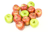 Red and green apples group — Stock Photo