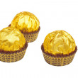 Golden candys — Stock Photo