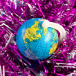 Canada on toy globe — Stock Photo #8795183