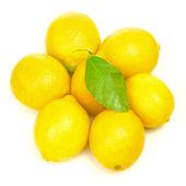 Citrony s zelený list — Stock fotografie