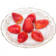 Strawberry on a plate — Stock Photo