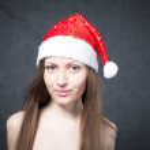 Mrs. Santa dreaming — Stock Photo #10023791