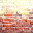 verwitterte gefärbten alten red brick wall background — Stockfoto