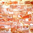 Weathered stained old  red brick wall background — Стоковая фотография