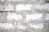 Beyaz tuğla duvar arka plan — Stok fotoğraf