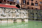 Fonte Gaia, Siena — Stock Photo