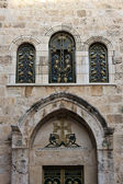 Armenian church door, Jerusalem — Stock Photo