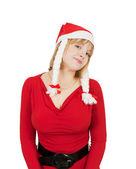 Pretty christmas girl — Stock Photo