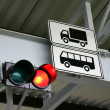 Traffic light for tucks and buses. — Stock Photo